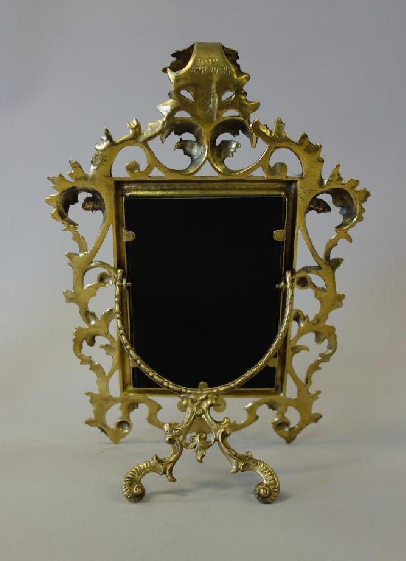 Antique Gilded Brass Photo Frame - 2