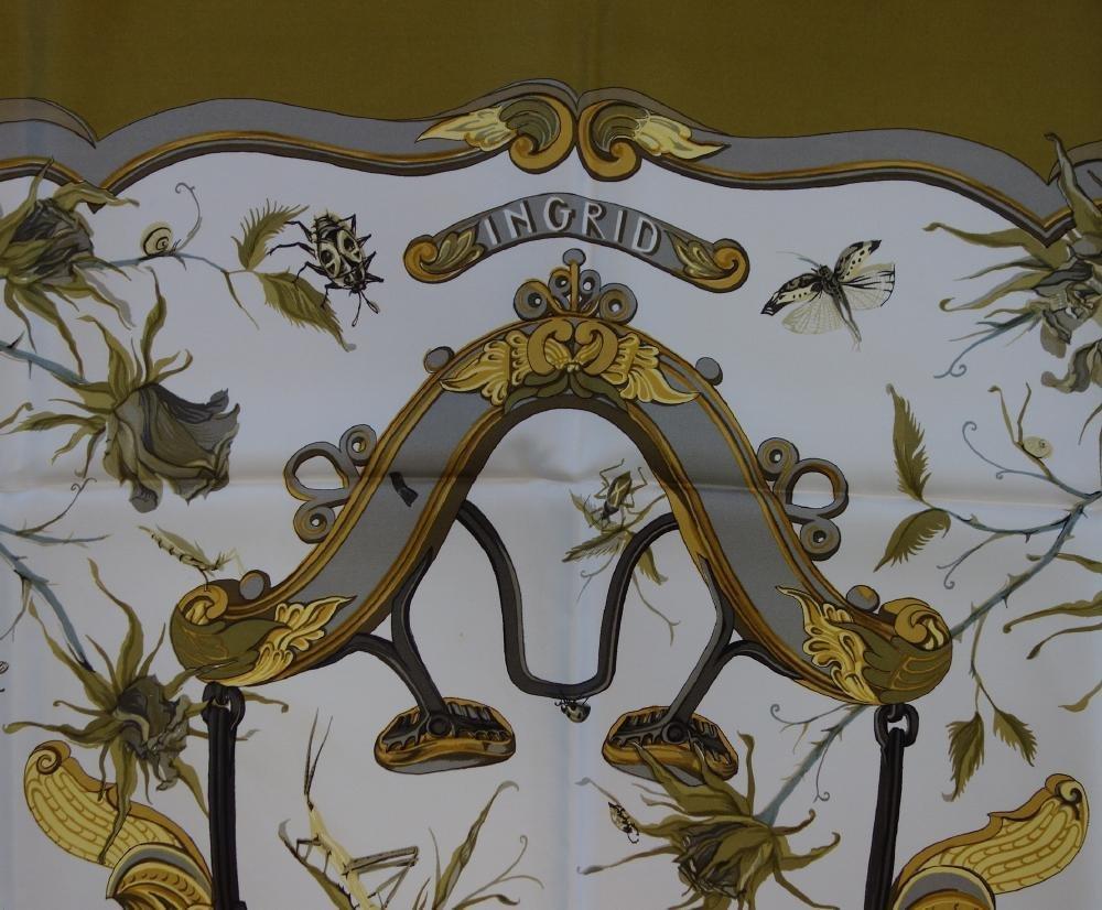 Hermes Silk Scarf, Ingrid Pattern - 2