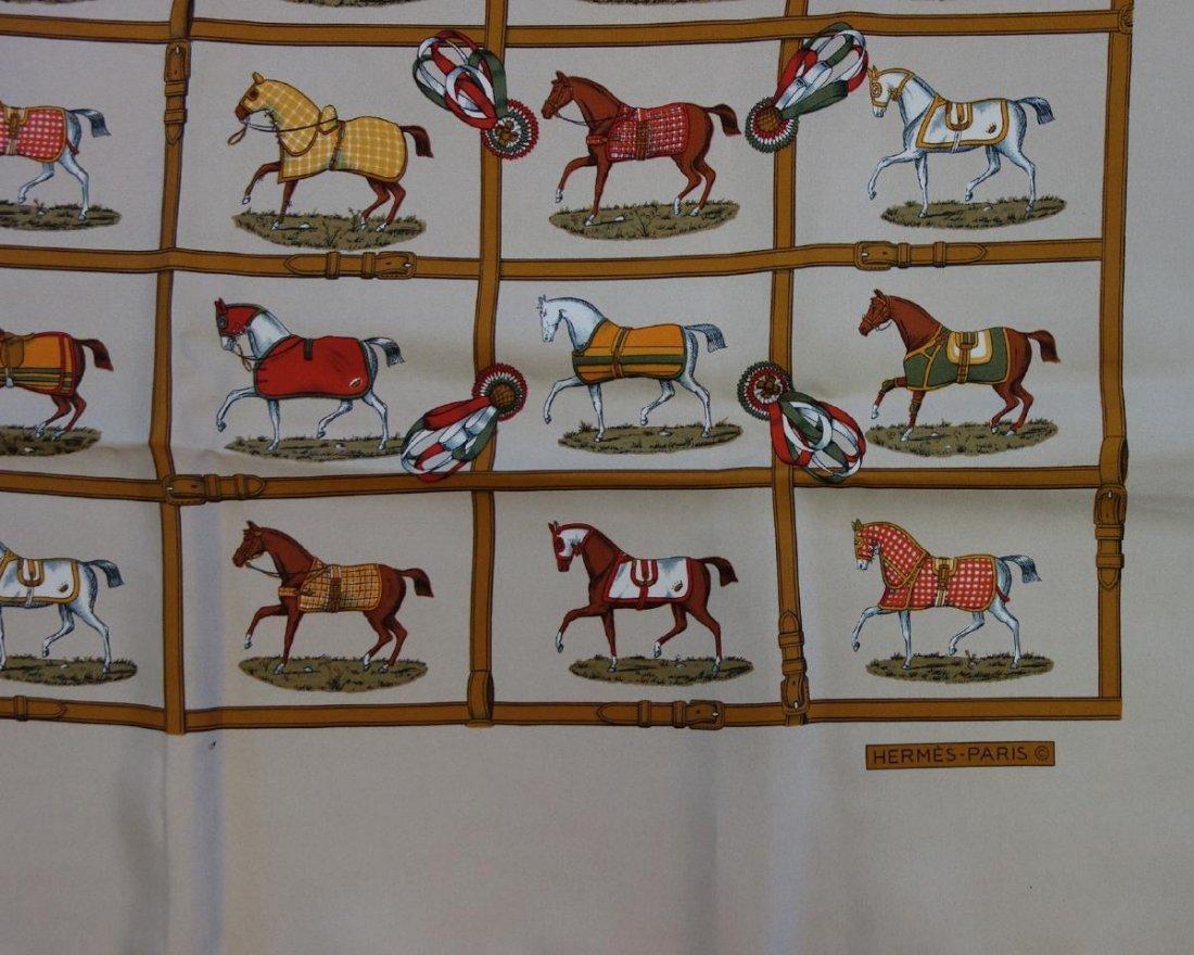 Hermes Silk Scarf, Multi Horse Pattern Motif - 2