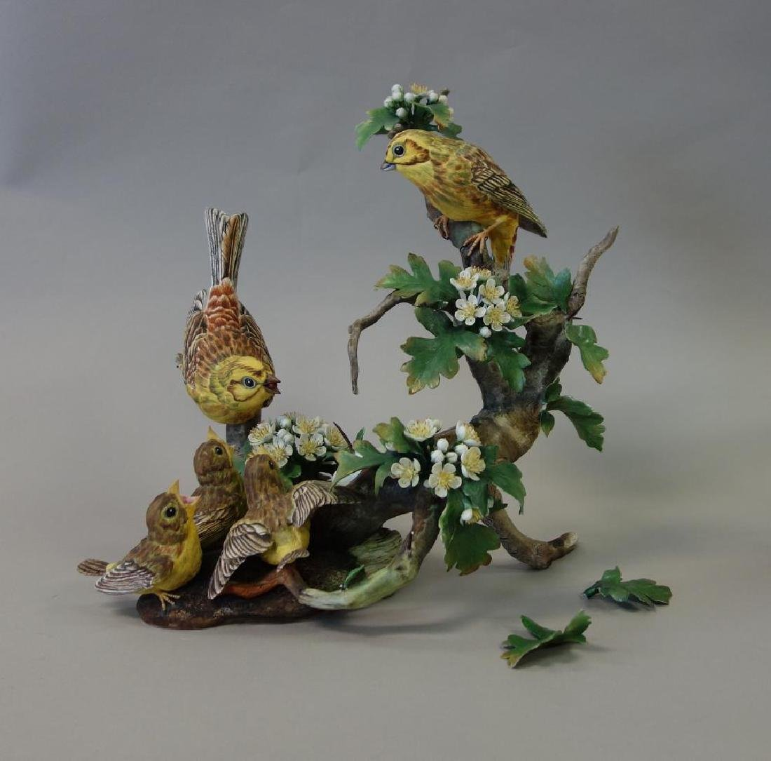 Boehm Porcelain Figural Group, Feeding Time