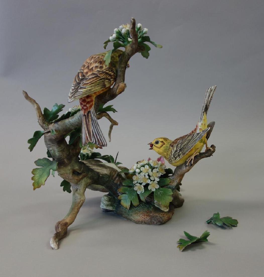 Boehm Porcelain Figural Group, Feeding Time - 3