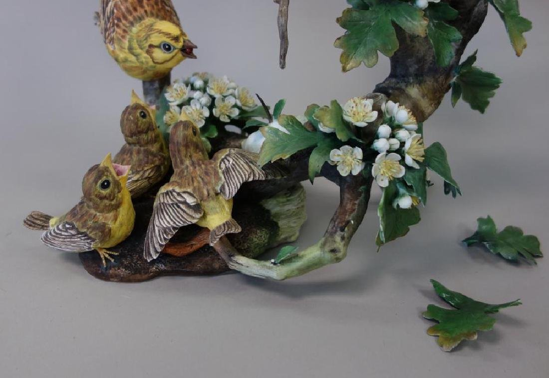 Boehm Porcelain Figural Group, Feeding Time - 4