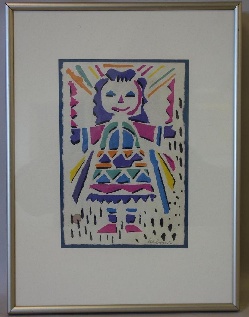 Helmi Juvonen (1903-1985) Native American Girl - 2