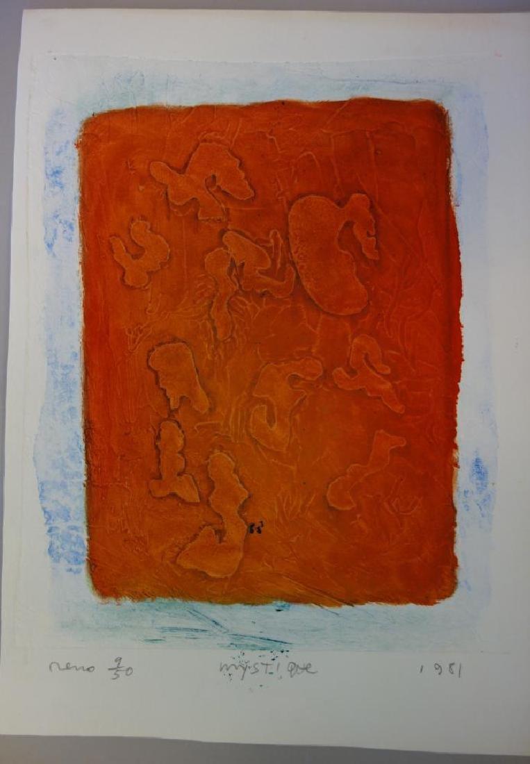 Joe Reno (Washington b-1943) Mystique 2 Etchings - 2