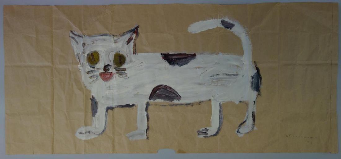 Jay Steensma (WA, 1941-1994) White Cat - Paper Bag
