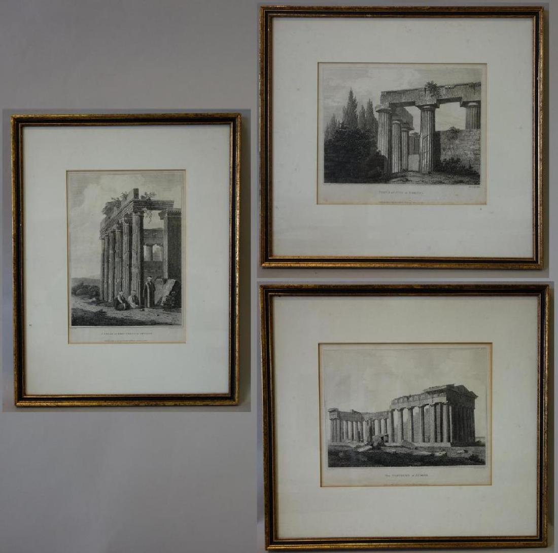 3 Architectural Etchings Letitia & Elizabeth Byrne