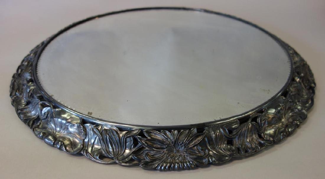 Silverplate Mirrored Plateau Centerpiece - 2