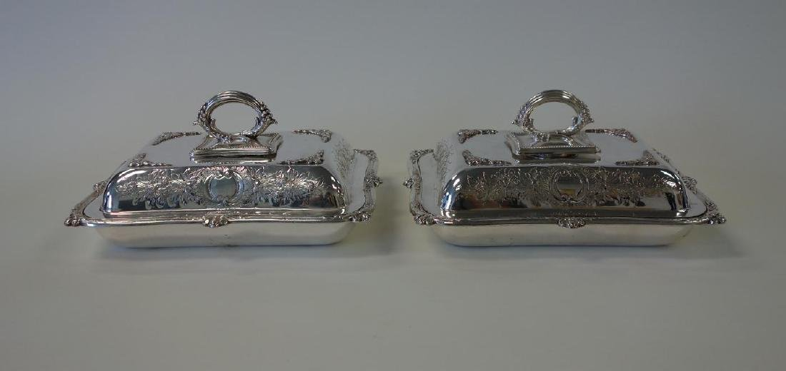 Hukin & Heath English Silver Plate Serving Dishes
