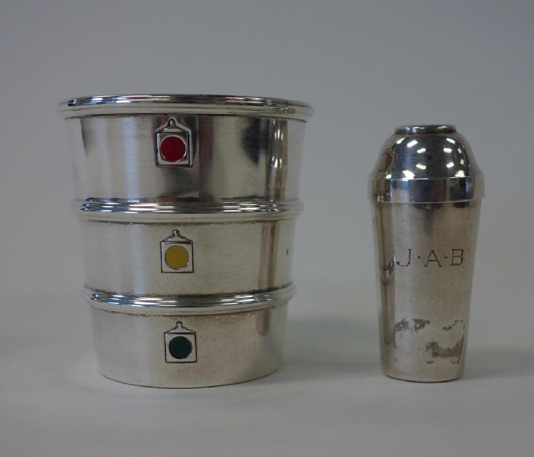 Gorham Sterling Stoplight Jigger & Cocktail Shaker