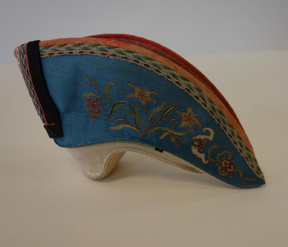 Chinese Embroidered Lotus Shoe / Bound Foot