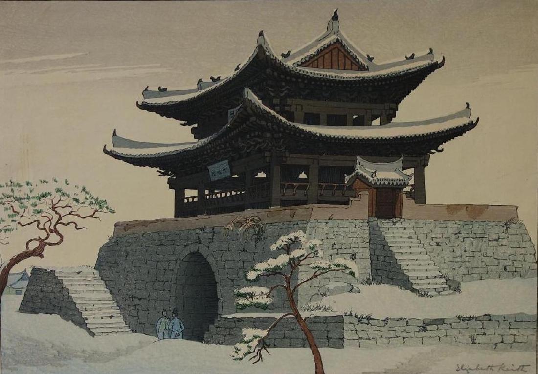 Elizabeth Keith (1887-1956) East Gate, Pyeng Yang