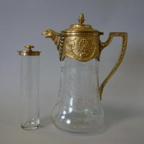 Russian Gilt Bronze Mounted Claret Jug, Ice Insert