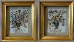 19thc French Porcelain Floral Plaque Pictures