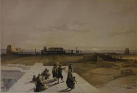 David Roberts (1796-1864) Ruins of Karnack FG Moon