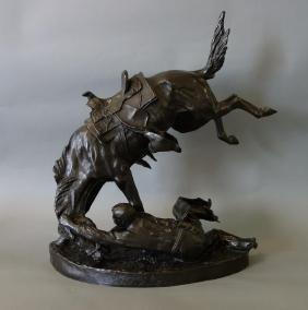 Frederic Remington Bronze Sculpture, Wicked Pony