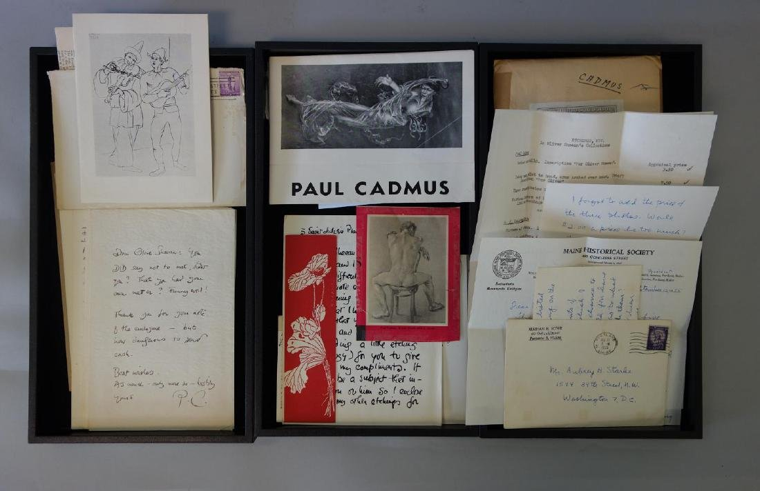 Paul Cadmus Rare Personal Letters to Oliver Sheean