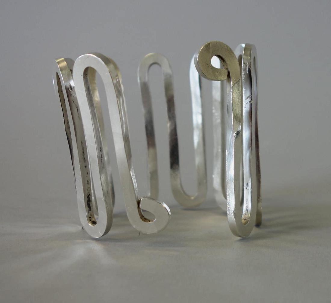 Alexander S. Calder, Silver Wire Hammered Bracelet