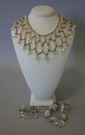Vintage Bib Necklace Suite & Faith Porter Earrings