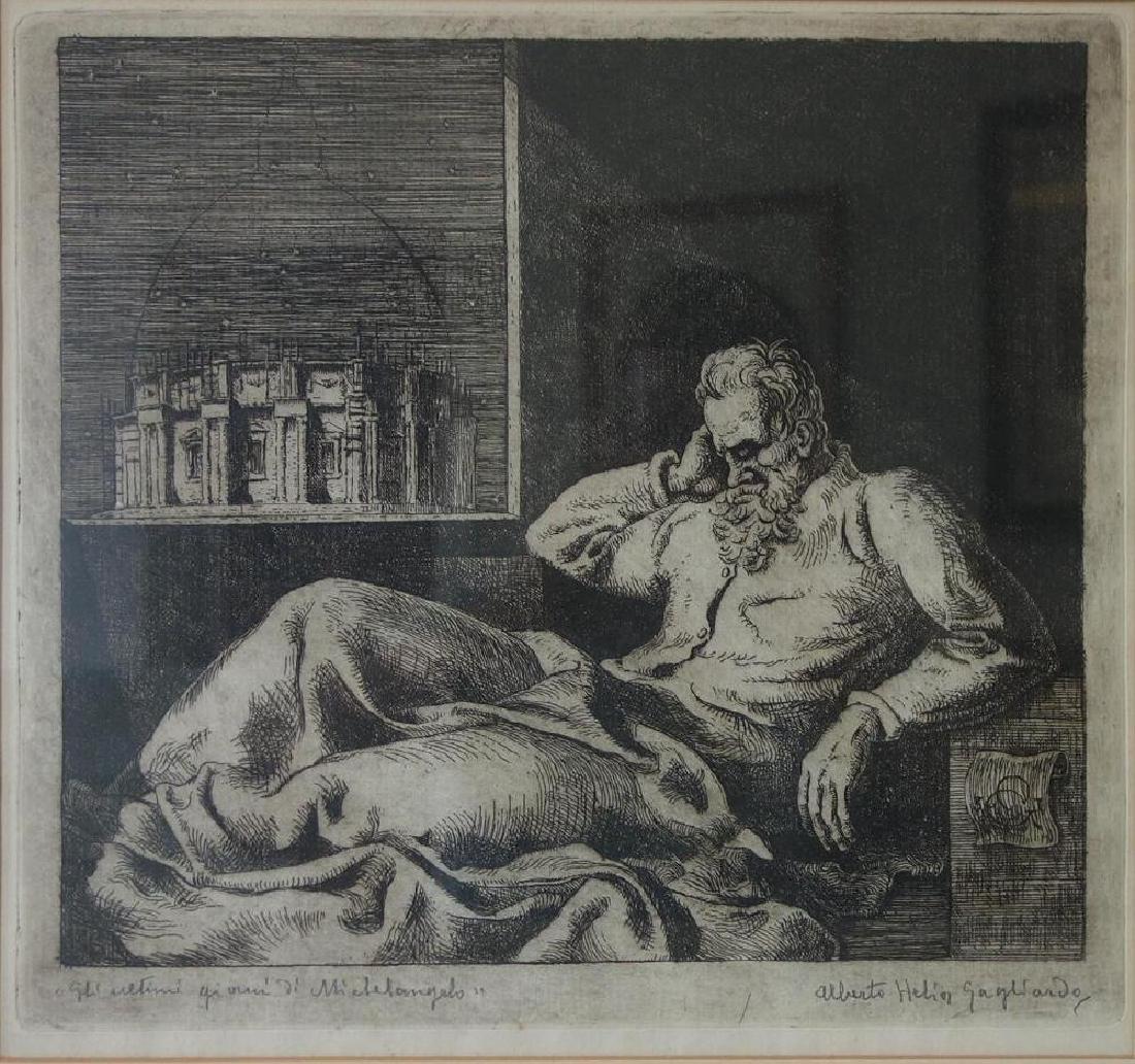 Alberto Helios Gagliardo (1893-1987) Michelangelo