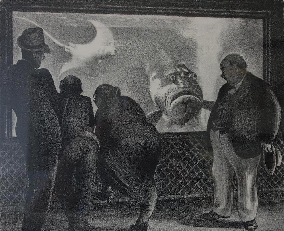 Mabel Dwight (1876-1955) Lithograph, Queer Fish