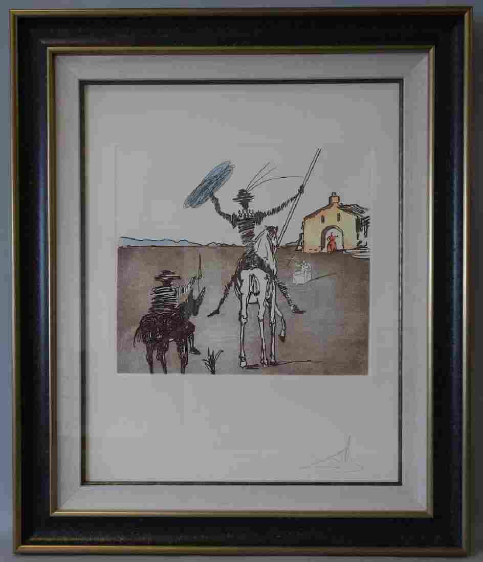 Salvador Dali, Etching & Aquatint, Don Quichotte