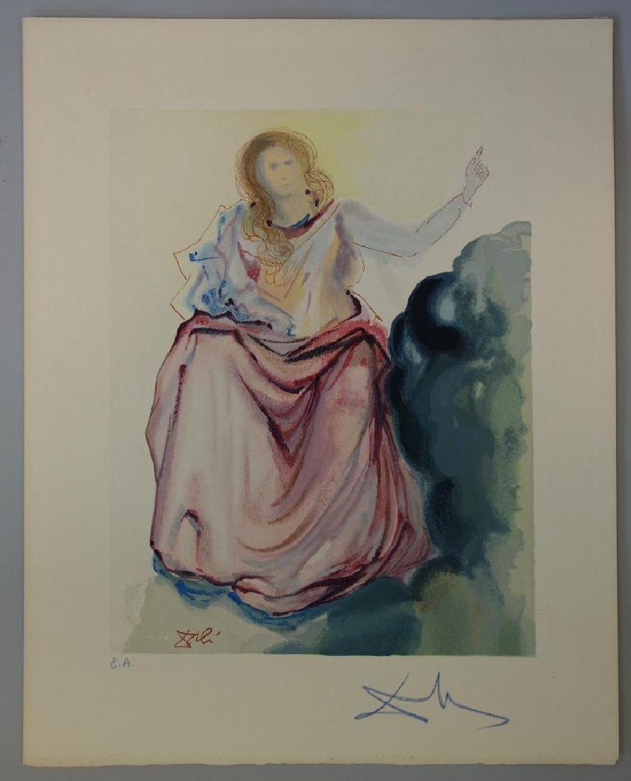 Salvador Dali, Paradise Canto 4, Divine Comedy