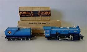 Lionel Locomotive & Tender, 263E & 263T w/ Boxes