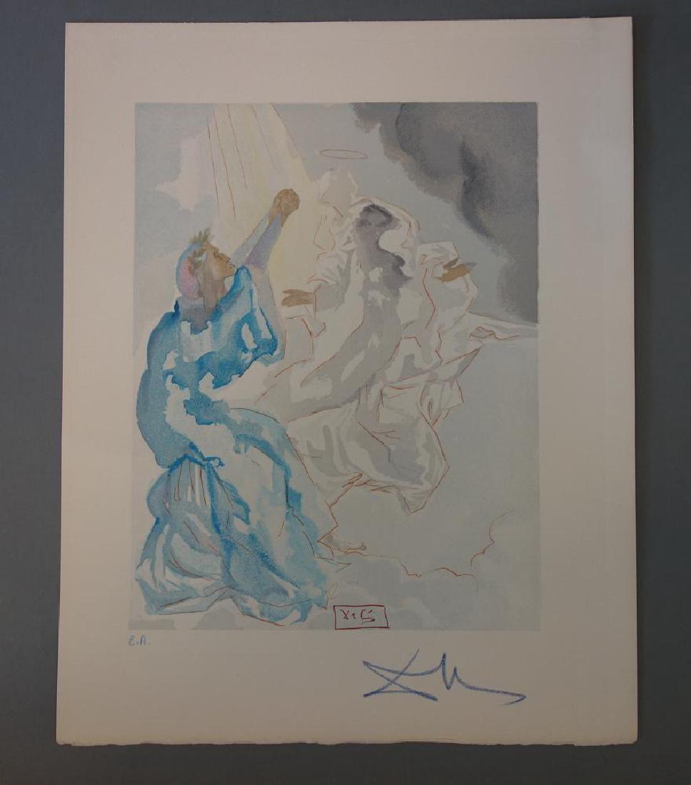 Salvador Dali, Paradise Canto 5, Divine Comedy