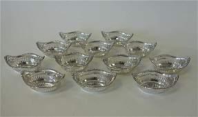12 Gorham Sterling Silver Nut Dishes