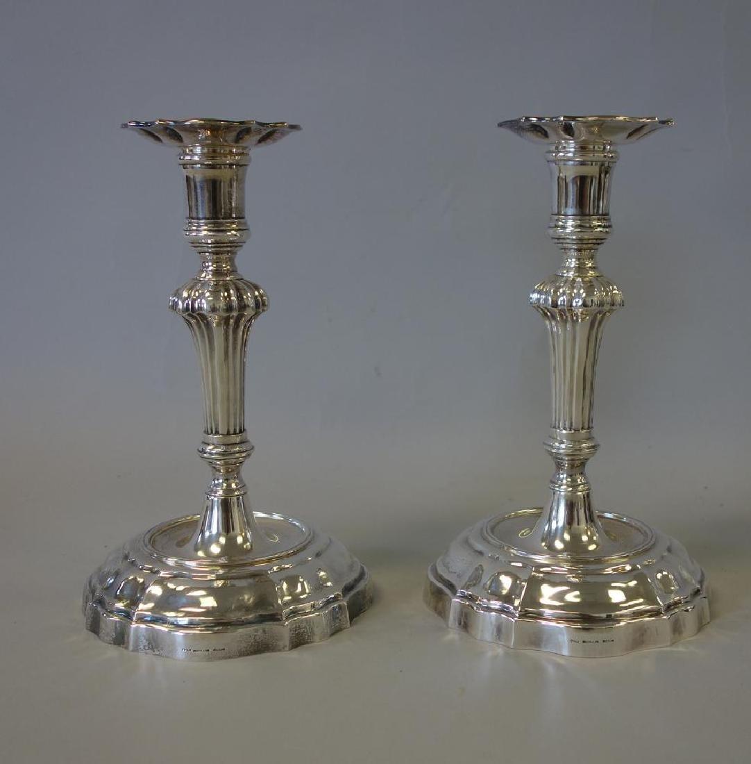 Buccellati Italian Sterling Candlesticks, Pair