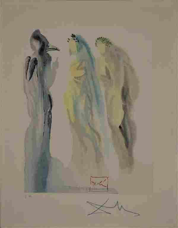 Salvador Dali, Paradise Canto 9, Divine Comedy