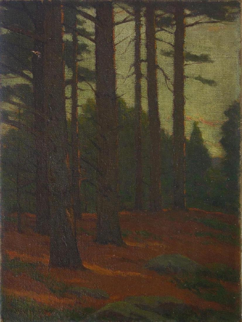 Charles Warren Eaton (1857-1937) The Pines at Dusk