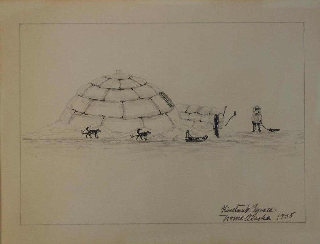 James Kivetoruk Moses (1900-1982) Nome Alaska 1958
