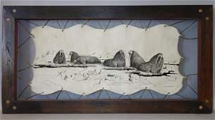 Florence Malewotkuk (1906-1971) Pen & Ink Drawing