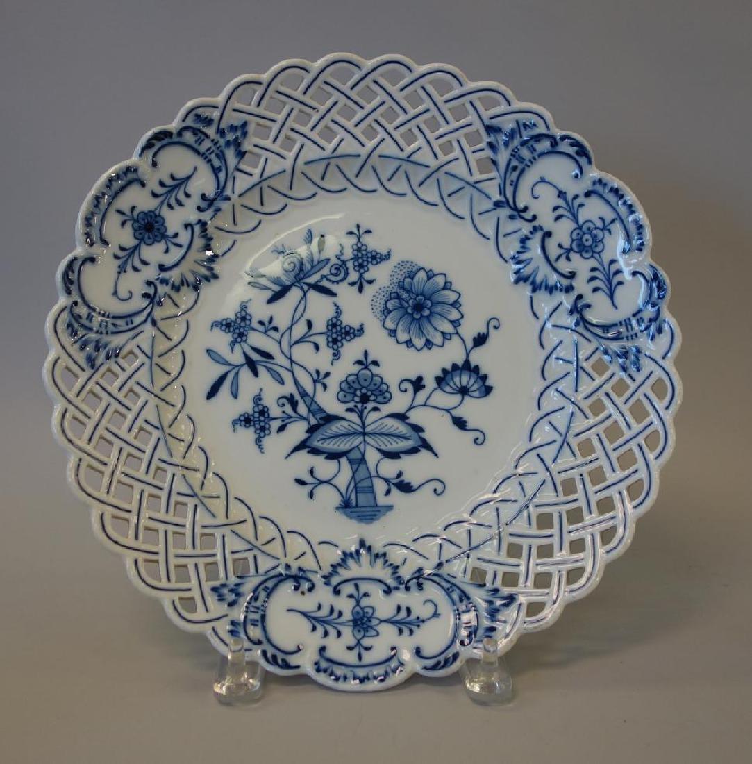 Meissen Blue Onion Porcelain Serving Platter