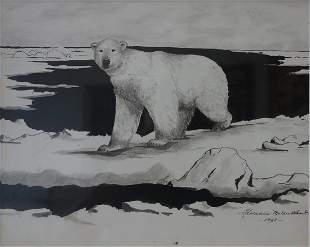 Florence Nupok Malewotkuk (1906-1971) Polar Bear
