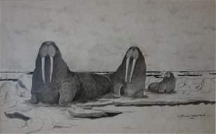 Florence Nupok Malewotkuk (1906-1971) Walrus