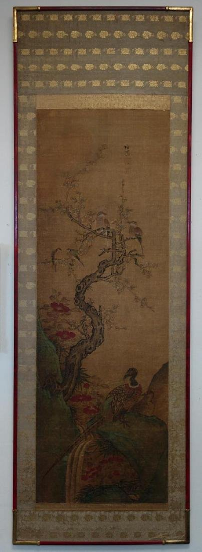 19thc Chinese Scroll Painting, Qing Dynasty Signed - 2