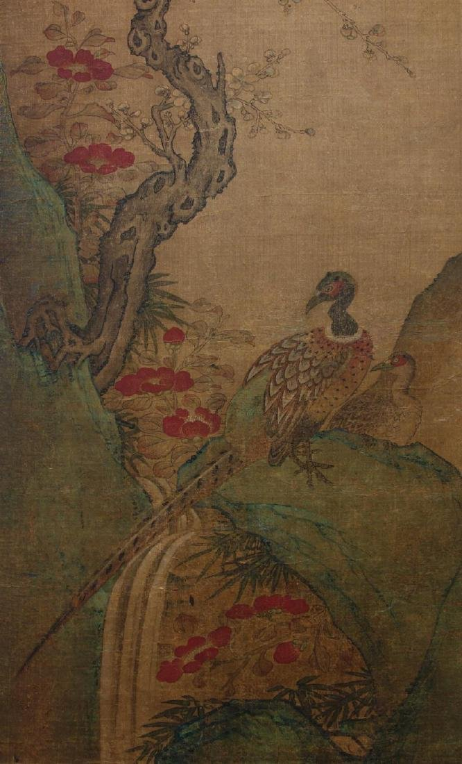 19thc Chinese Scroll Painting, Qing Dynasty Signed - 3