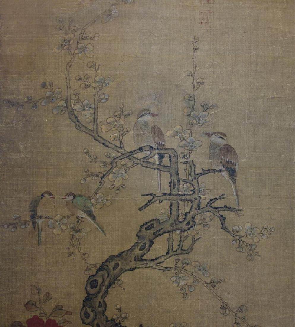 19thc Chinese Scroll Painting, Qing Dynasty Signed - 5