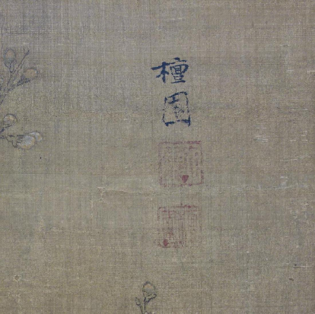 19thc Chinese Scroll Painting, Qing Dynasty Signed - 6