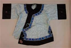 Chinese Silk Embroidered Robe, Qing Dynasty