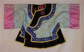Chinese Silk Embroidered Tunic / Robe, Qing