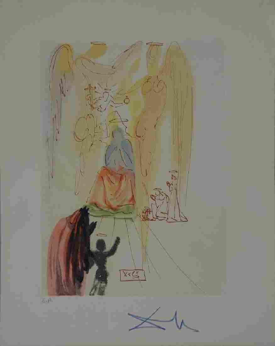 Salvador Dali, Paradise Canto 23, Divine Comedy