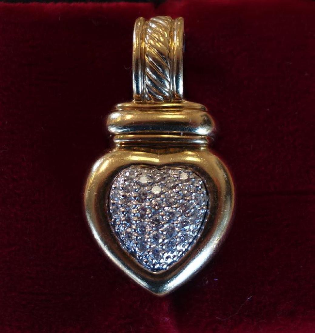 David Yurman 18K Gold & Diamond Pendant