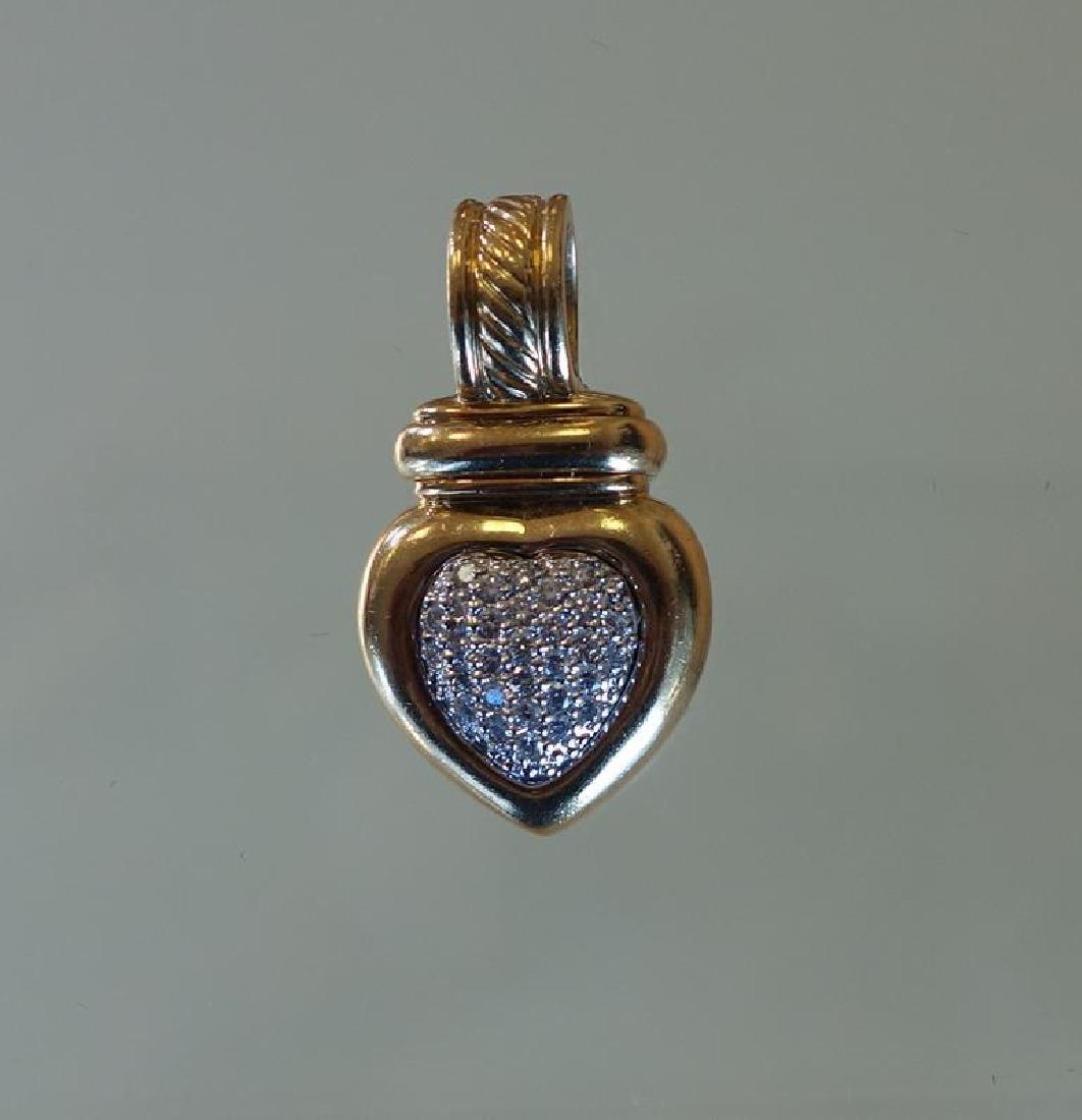 David Yurman 18K Gold & Diamond Pendant - 2