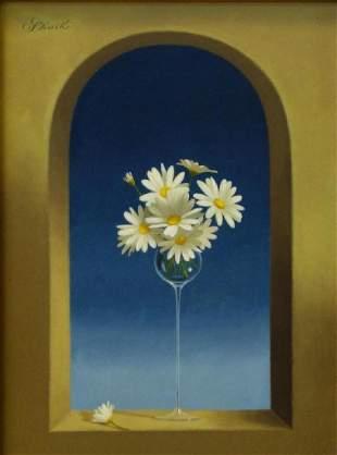 Gerald Stinski (b-1929) Still Life, Daisy Bouquet