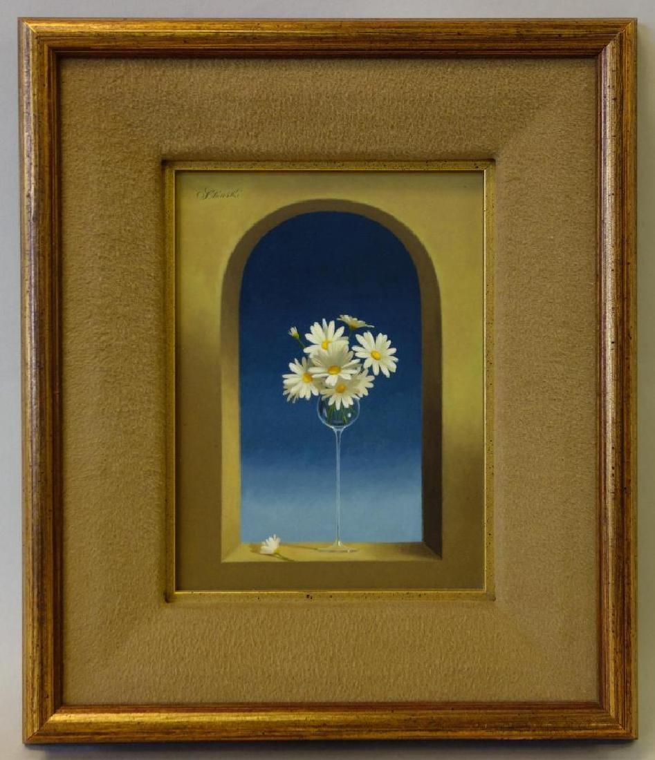 Gerald Stinski (b-1929) Still Life, Daisy Bouquet - 2