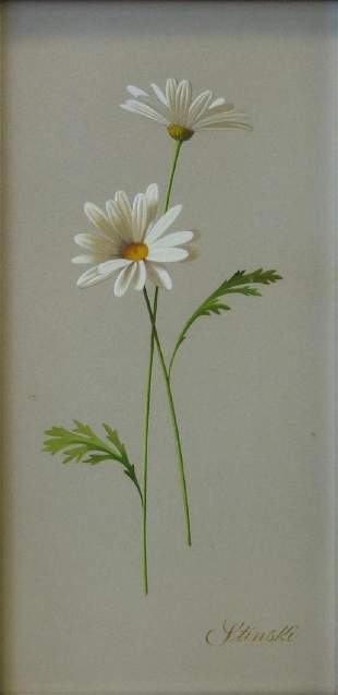 Gerald Stinski (b-1929) Still Life, Daisies