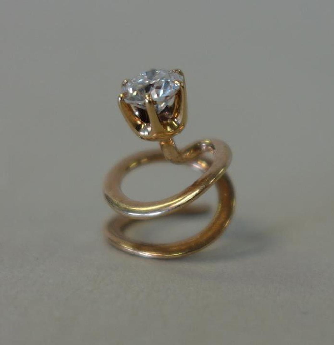 Diamond & 14K Gold Shirt or Lapel Stud, .50 Carats